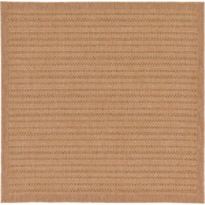 Chasew City Light Brown Indoor/Outdoor Area Rug Rug Size: Square 6