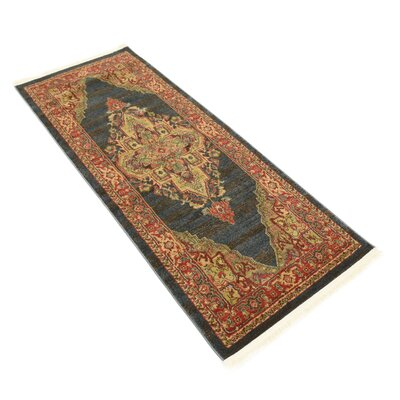 Valley Navy Blue Area Rug Rug Size: Runner 27 x 67