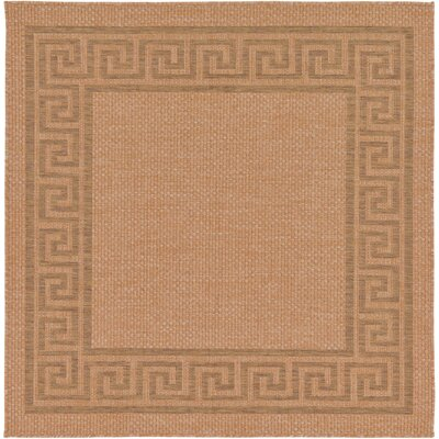 Kennell Light Brown Outdoor Area Rug Rug Size: Square 6