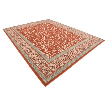 McCabe Rust Red Indoor/Outdoor Area Rug Rug Size: Rectangle 5 x 8
