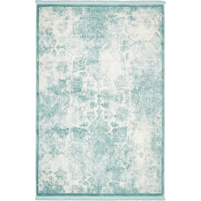 Jacobson Blue Area Rug Rug Size: 4 x 6