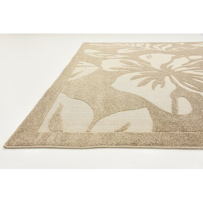 Duxbury Beige Indoor/Outdoor Area Rug Rug Size: Rectangle 4 x 6