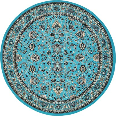 Southern Turquoise Area Rug Rug Size: Round 8
