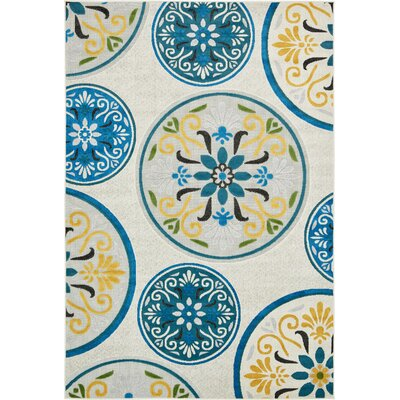 Janet Cream Indoor/Outdoor Area Rug Rug Size: 6 x 9