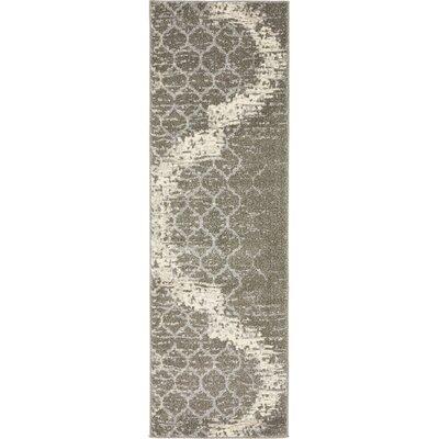 Steinbeck Light Gray Area Rug Rug Size: Runner 2 x 6