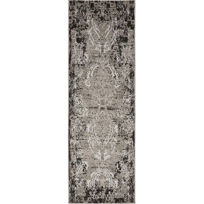 Christine Light Gray Indoor/Outdoor Area Rug Rug Size: Runner 2 x 6