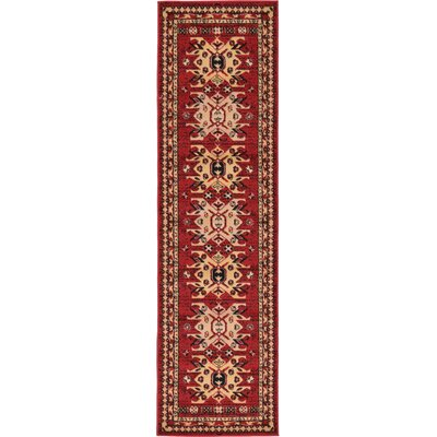 Valley Red Area Rug Rug Size: Runner 22 x 82