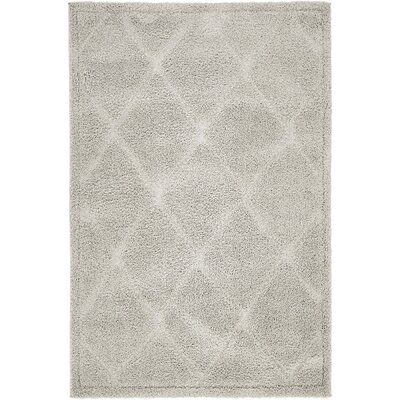 Catherine Machine Woven Gray Area Rug Rug Size: Rectangle 4 x 6