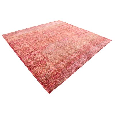 Rune Red Area Rug Rug Size: Square 8