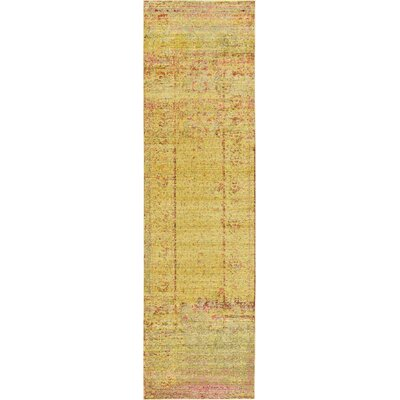 Bradford Yellow Area Rug Rug Size: Runner 27 x 910