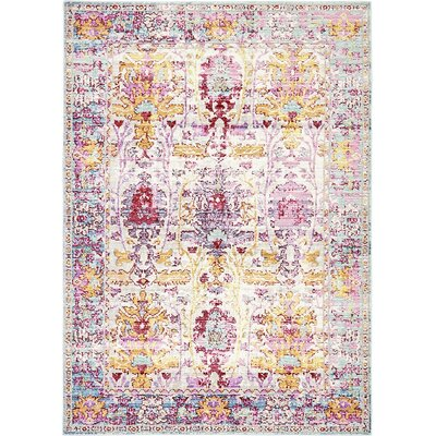 Center Burgundy Area Rug Rug Size: 4' x 6'