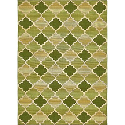 Alice Green Indoor/Outdoor Area Rug Rug Size: Rectangle 4 x 6