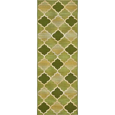 Alice Green Indoor/Outdoor Area Rug Rug Size: Runner 2 x 6