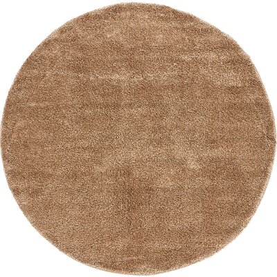 Truett Light Brown Area Rug Rug Size: Round 8