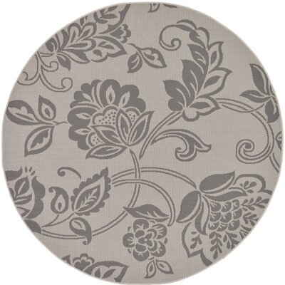 Beaver Creek Gray Outdoor Area Rug Rug Size: Round 6