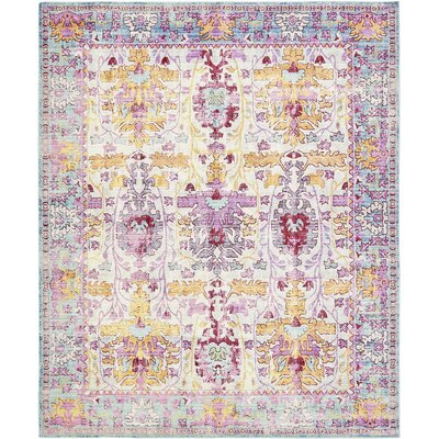 Carrico Burgundy Area Rug Rug Size: Rectangle 5 x 8