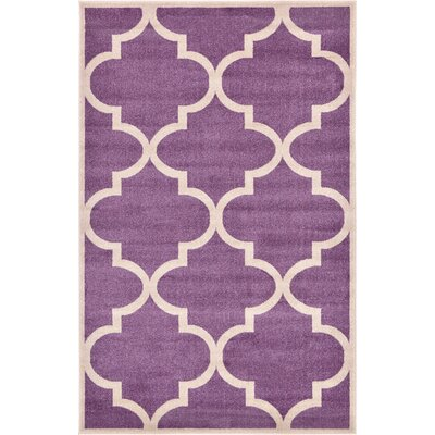 Moore Purple Area Rug Rug Size: Rectangle 5 x 8