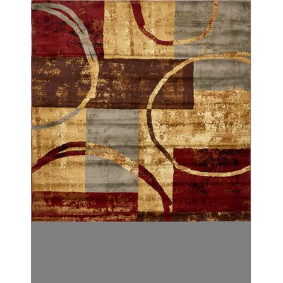 Jaidan Brown/Gray Area Rug Rug Size: 5 x 8