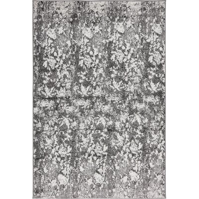 Maryrose Dark Gray Area Rug Rug Size: Rectangle 4 x 6