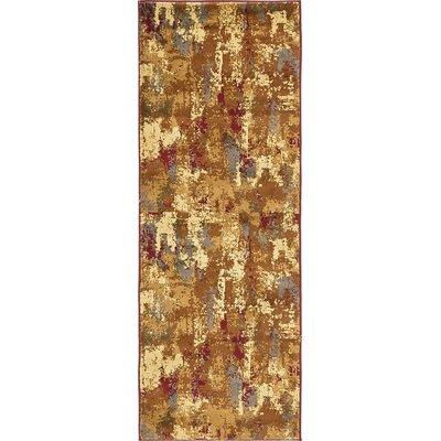 Jaidan Traditional Beige Abstract Area Rug Rug Size: Runner 22 x 6