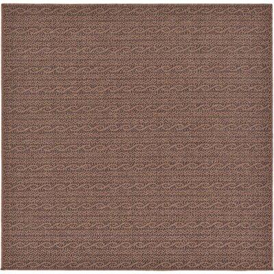 Robbinston Brown Outdoor Area Rug Rug Size: Square 6