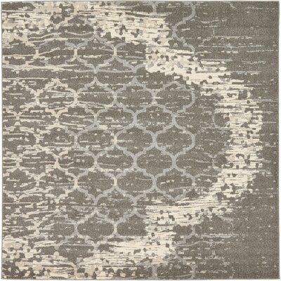 Steinbeck Light Gray Area Rug Rug Size: Square 8