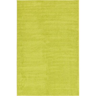Bixler Moss Green Area Rug Rug Size: Rectangle 106 x 165