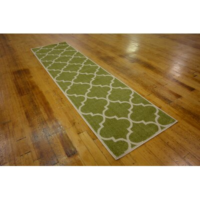 Emjay Green Area Rug Rug Size: Round 6