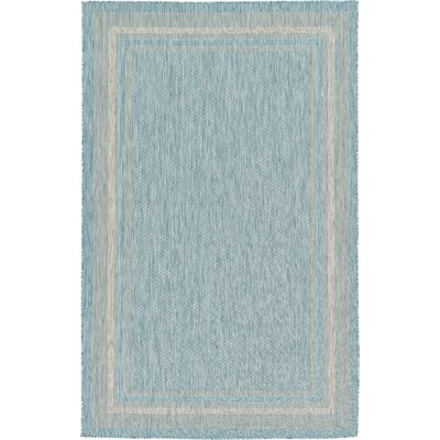 Thomas Aquamarine Outdoor Area Rug Rug Size: Rectangle 4 x 6