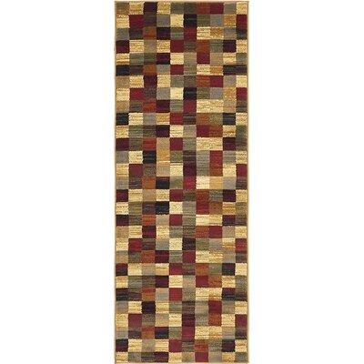 Jaidan Brown/Beige Geometric Area Rug Rug Size: Runner 22 x 6