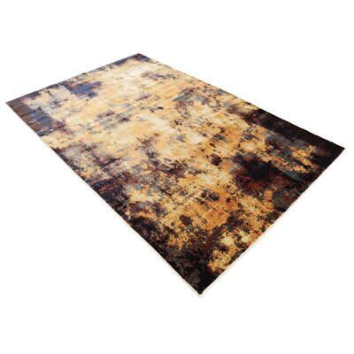 Jani Beige/Brown Area Rug Rug Size: 9 x 12