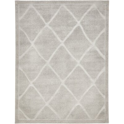Catherine Machine Woven Gray Area Rug Rug Size: Rectangle 9 x 12