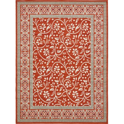 McCabe Rust Red Indoor/Outdoor Area Rug Rug Size: Rectangle 6 x 9