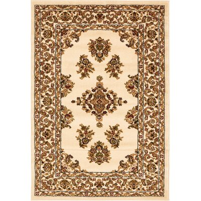 Snows Cream Area Rug Rug Size: Rectangle 5 x 8