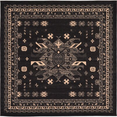 Valley Black Area Rug Rug Size: Square 8'