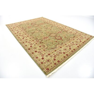 Sebou Light Green Area Rug Rug Size: 7 x 10