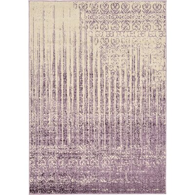 Ronit Purple Area Rug Rug Size: 4 x 6