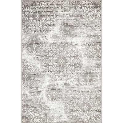 Argyle Gray Area Rug Rug Size: Rectangle 8 x 10