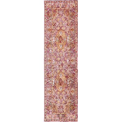 Carrico Oriental Red Area Rug Rug Size: Runner 27 x 910