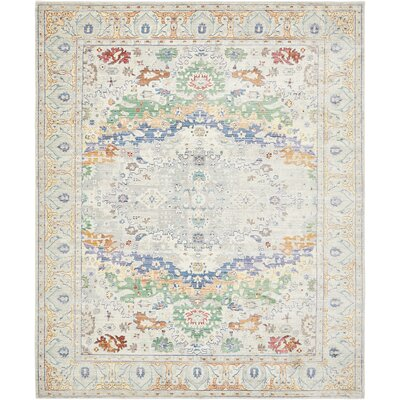 Carrico Light Gray Area Rug Rug Size: Rectangle 4 x 6