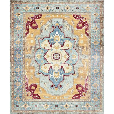 Carrico Light Blue Area Rug Rug Size: Runner 27 x 91