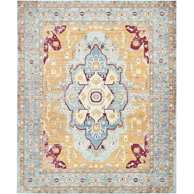 Carrico Light Blue Area Rug Rug Size: 8 x 10