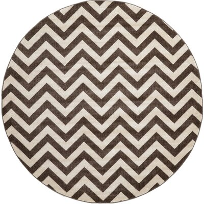 Berin Brown Area Rug Rug Size: Round 8