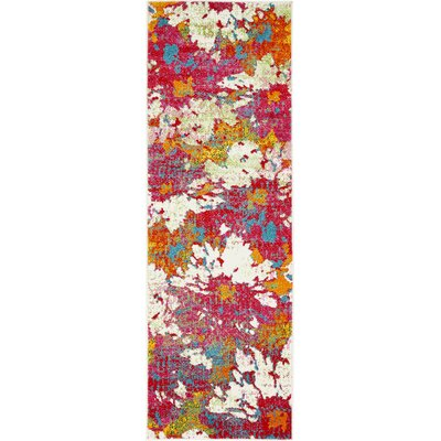 Elvia Pink Area Rug Rug Size: Runner 2 x 6