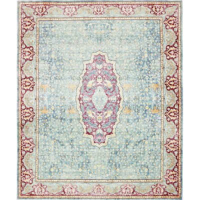 Carrico Navy Blue Area Rug Rug Size: Rectangle 8 x 10