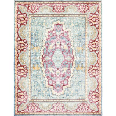 Carrico Navy Blue Area Rug Rug Size: 9 x 12