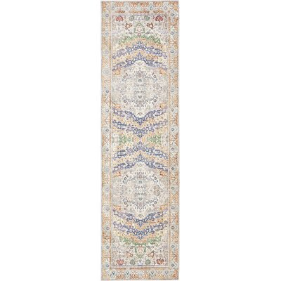 Carrico Light Gray Area Rug Rug Size: Runner 27 x 910