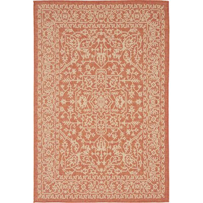Anton Terracotta Outdoor Area Rug Rug Size: Rectangle 8 x 114