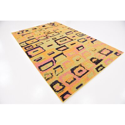 Sutton Place Yellow Area Rug Rug Size: Rectangle 6 x 9