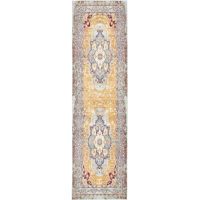 Carrico Light Blue Area Rug Rug Size: Runner 27 x 910